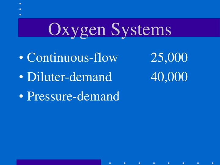 Oxygen Systems