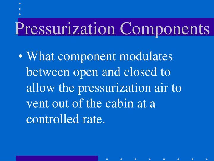 Pressurization Components