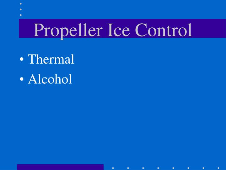 Propeller Ice Control