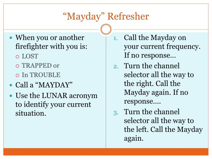 """Mayday"" Refresher"