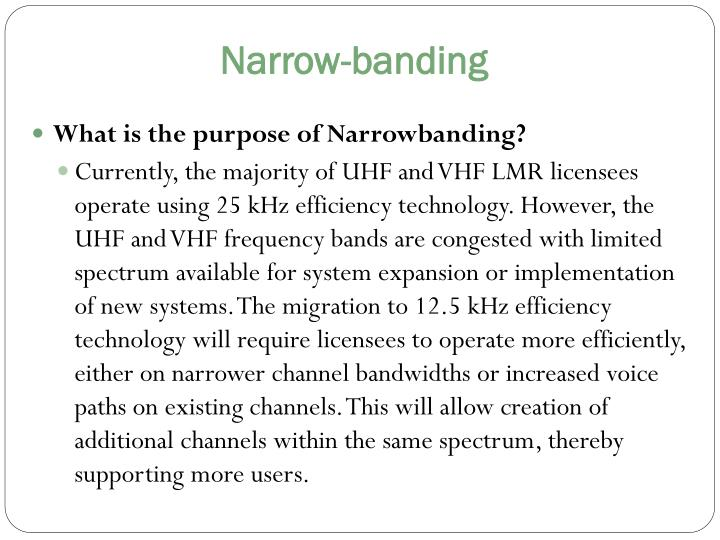 Narrow-banding