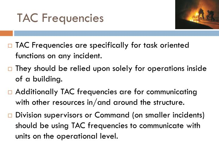 TAC Frequencies