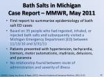 bath salts in michigan case report mmwr may 2011