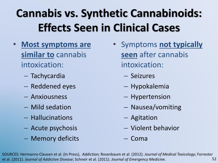 Cannabis vs. Synthetic Cannabinoids: Effects Seen in Clinical Cases