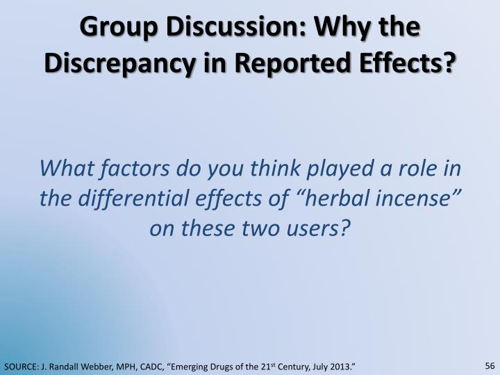 Group Discussion: Why the Discrepancy in Reported Effects?