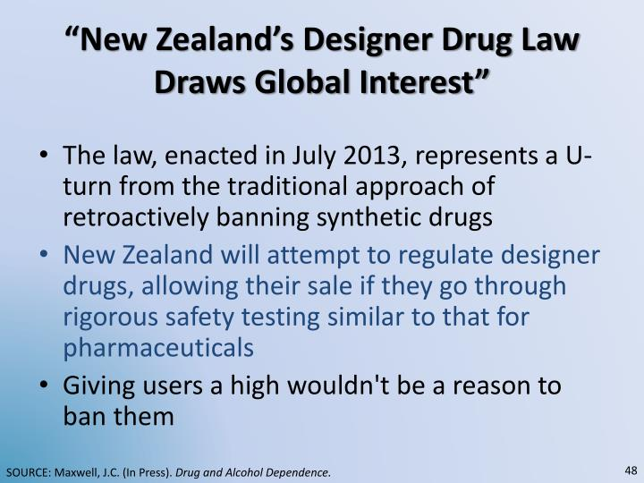 """New Zealand's Designer Drug Law Draws Global Interest"""