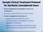 sample clinical treatment protocol for synthetic cannabinoid users