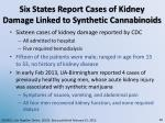 six states report cases of kidney damage linked to synthetic cannabinoids
