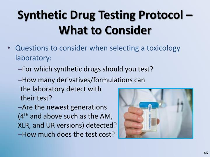 Synthetic Drug Testing Protocol – What to Consider
