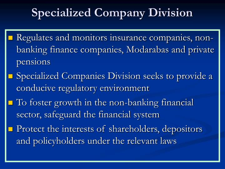 Specialized Company Division