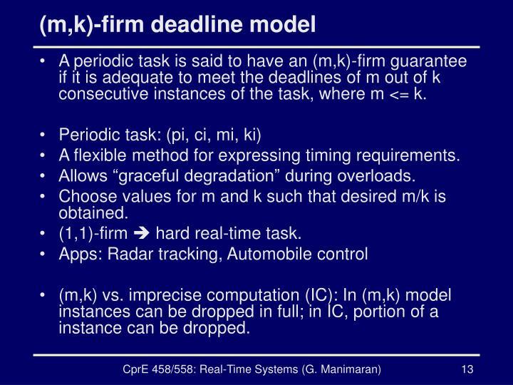 (m,k)-firm deadline model
