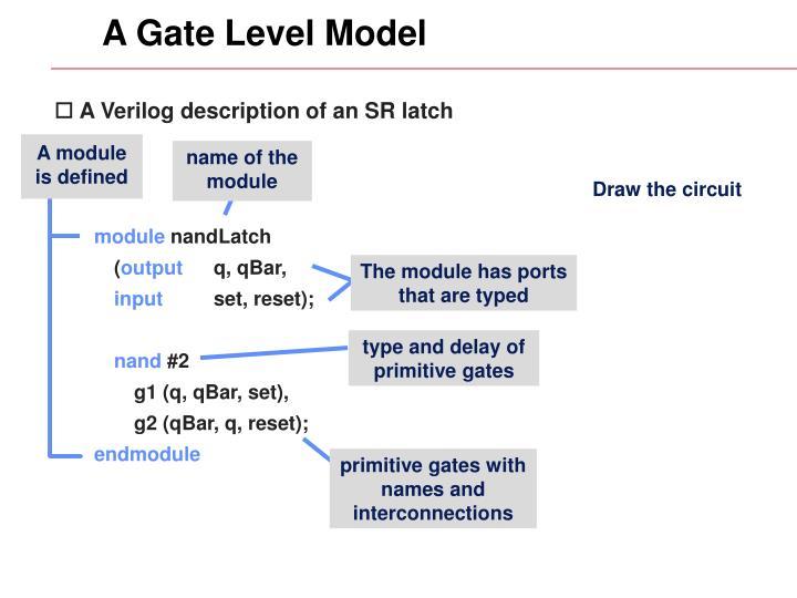 A Gate Level Model