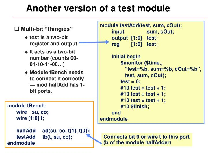 Another version of a test module