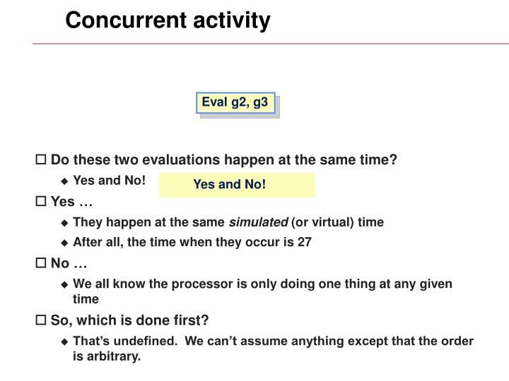 Concurrent activity