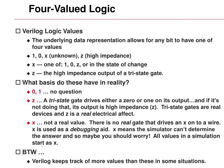 Four-Valued Logic