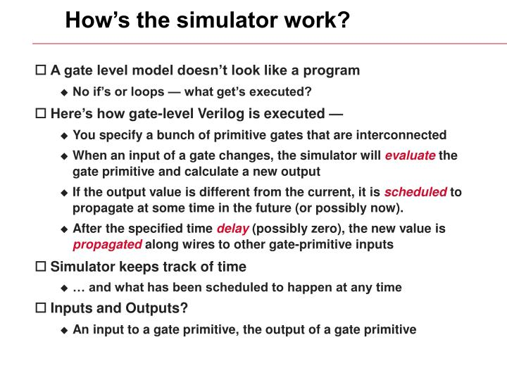How's the simulator work?