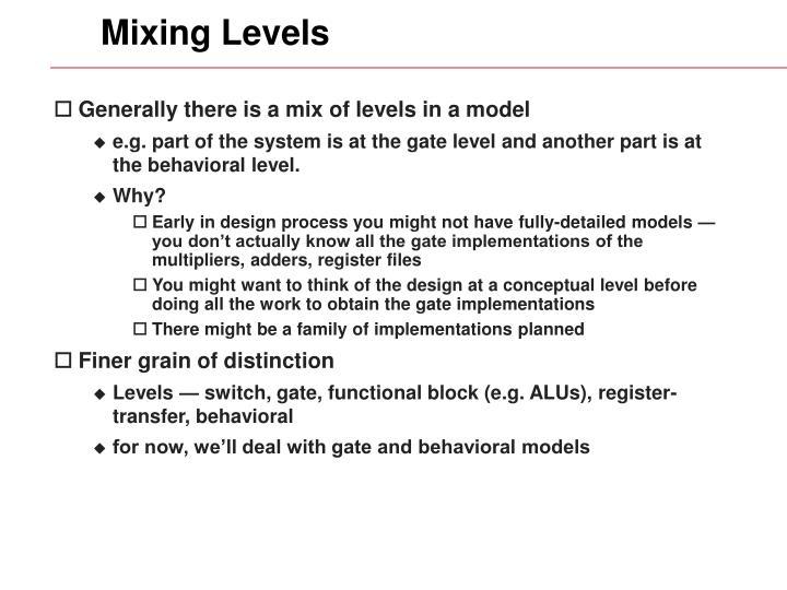 Mixing Levels