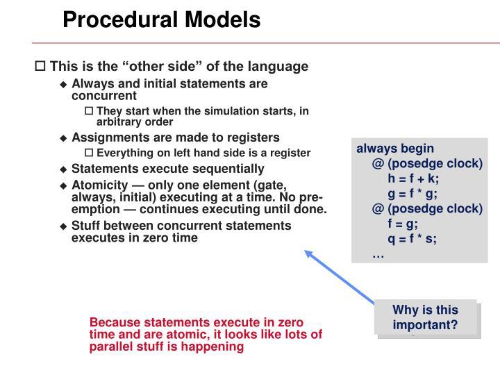 Procedural Models
