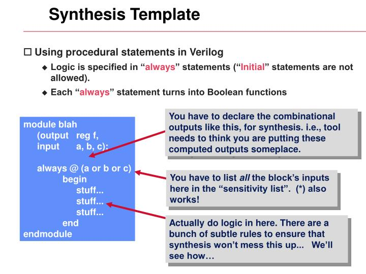 Synthesis Template