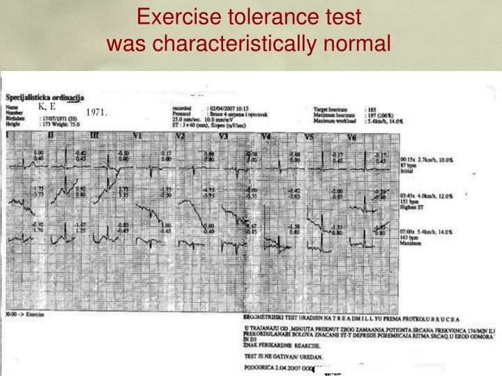 Exercise tolerance