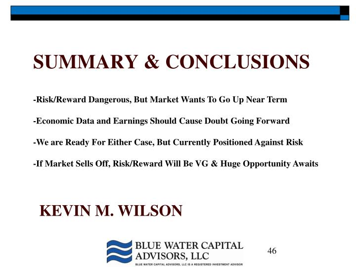 -Risk/Reward Dangerous, But Market Wants To Go Up Near Term