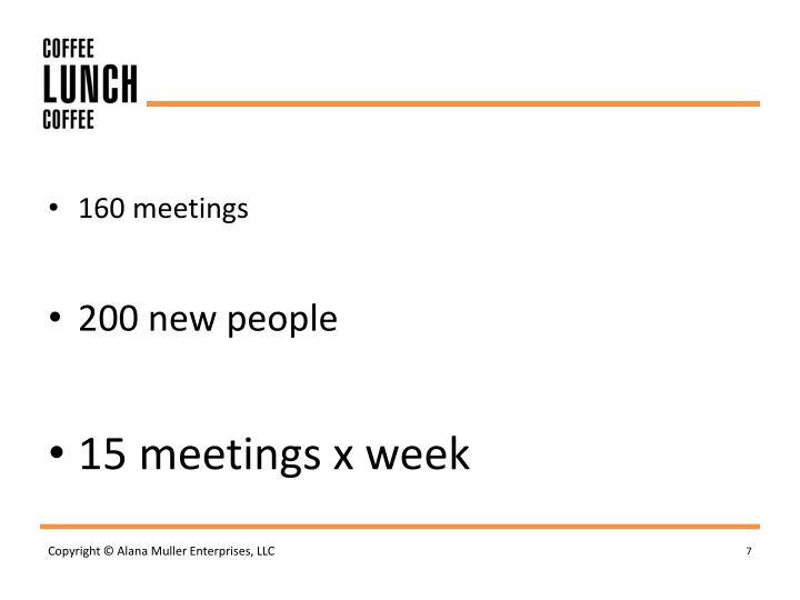 160 meetings