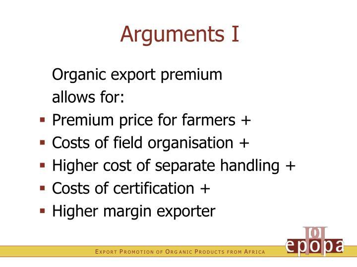 Arguments I