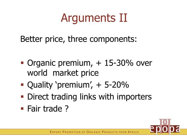 Arguments II