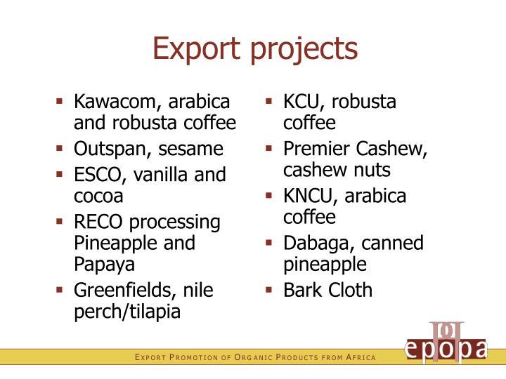 Kawacom, arabica and robusta coffee