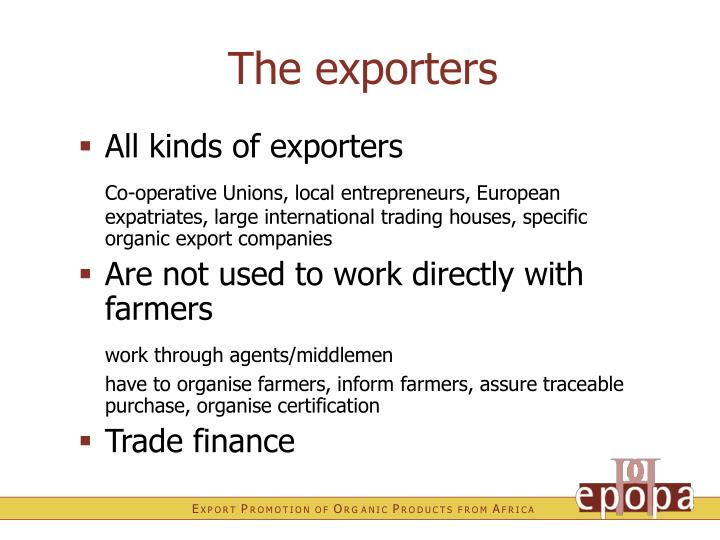 The exporters