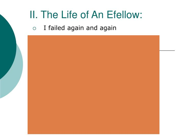 II. The Life of An Efellow: