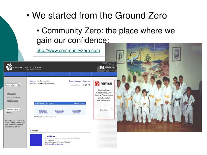 We started from the Ground Zero