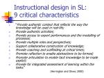 instructional design in sl 9 critical characteristics