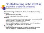 situated learning in the literature experience of different disciplines