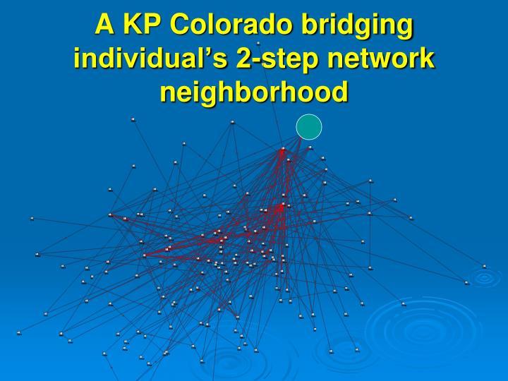 A KP Colorado bridging individual's 2-step network neighborhood