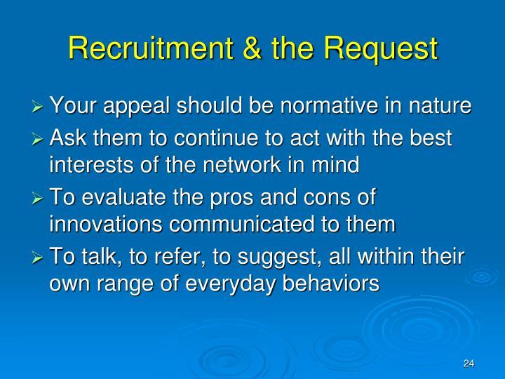 Recruitment & the Request