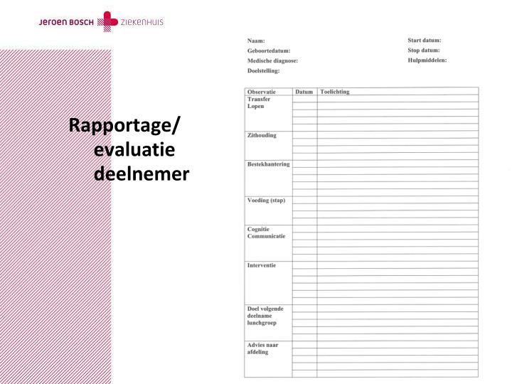 Rapportage/