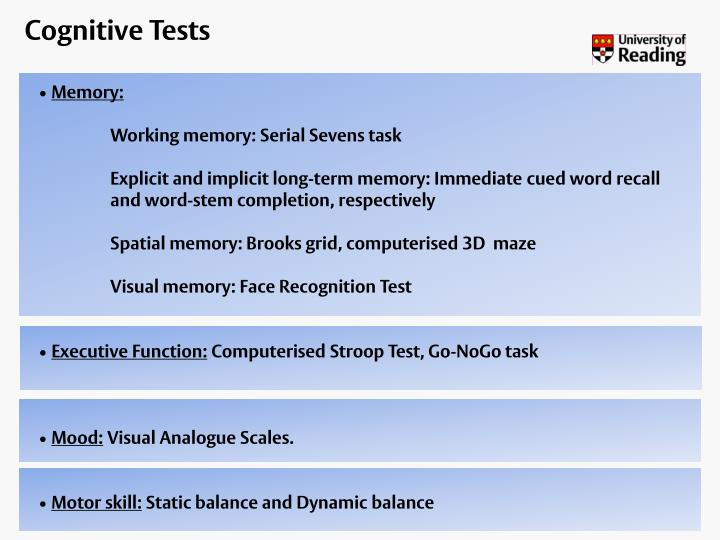 Cognitive Tests
