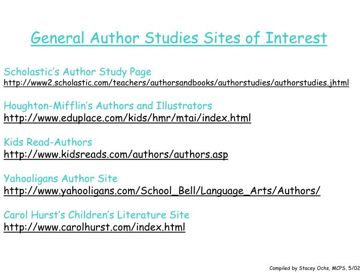 General Author Studies Sites of Interest