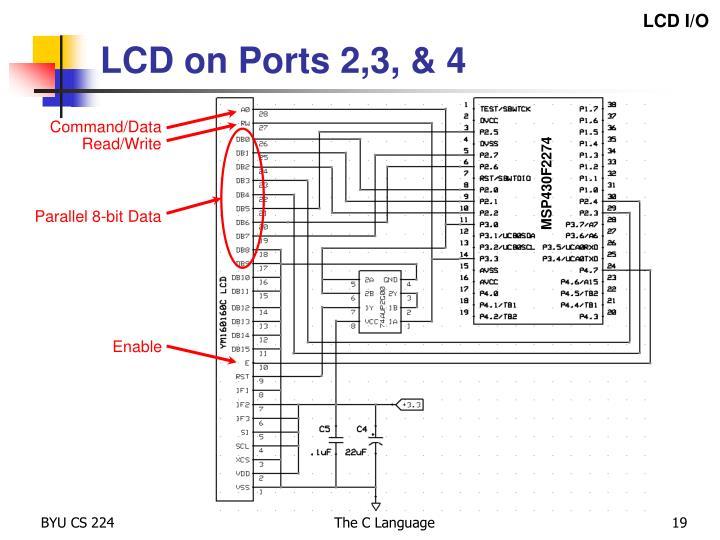 LCD I/O