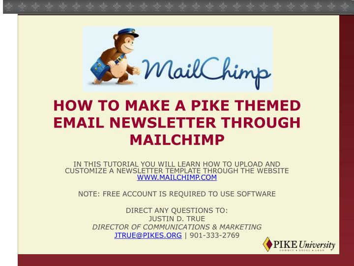 How to make a pike themed email newsletter through