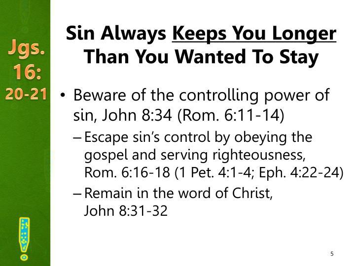 Sin Always