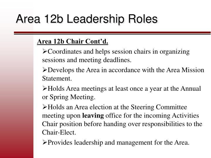 Area 12b Leadership Roles