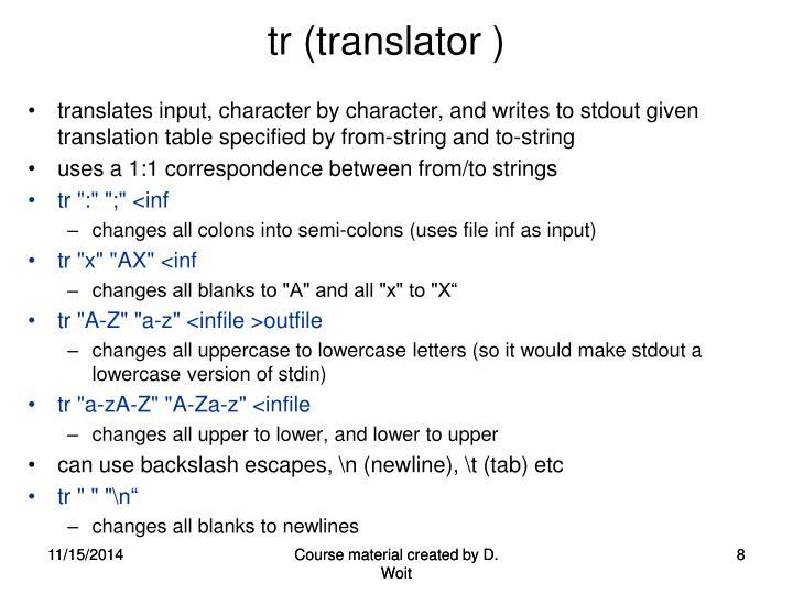 tr (translator )