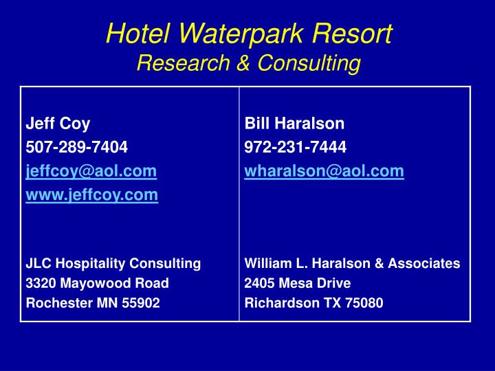 Hotel Waterpark Resort