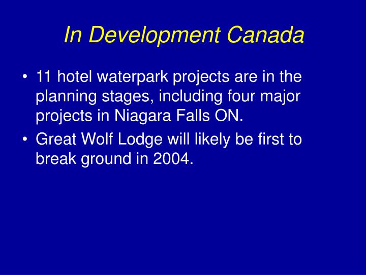 In Development Canada