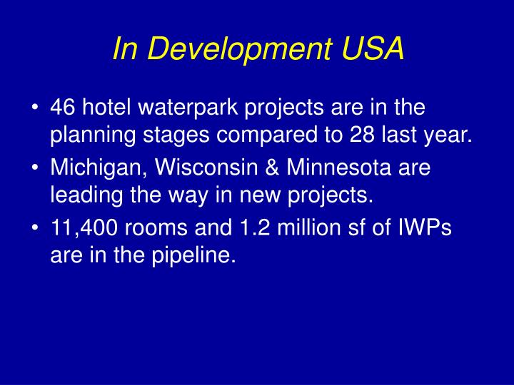 In Development USA