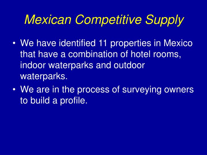 Mexican Competitive Supply