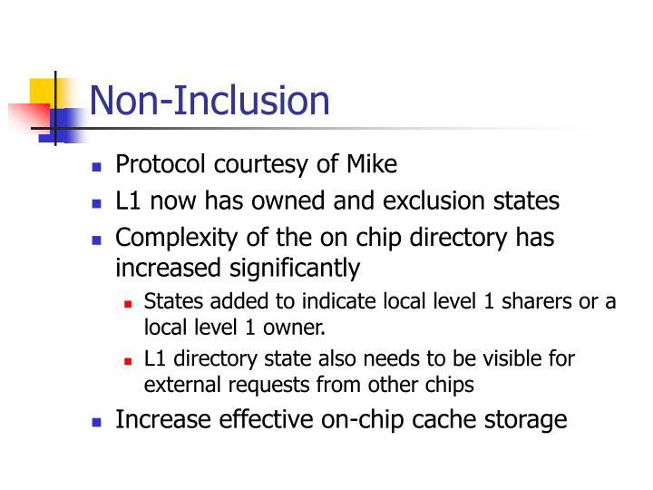 Non-Inclusion