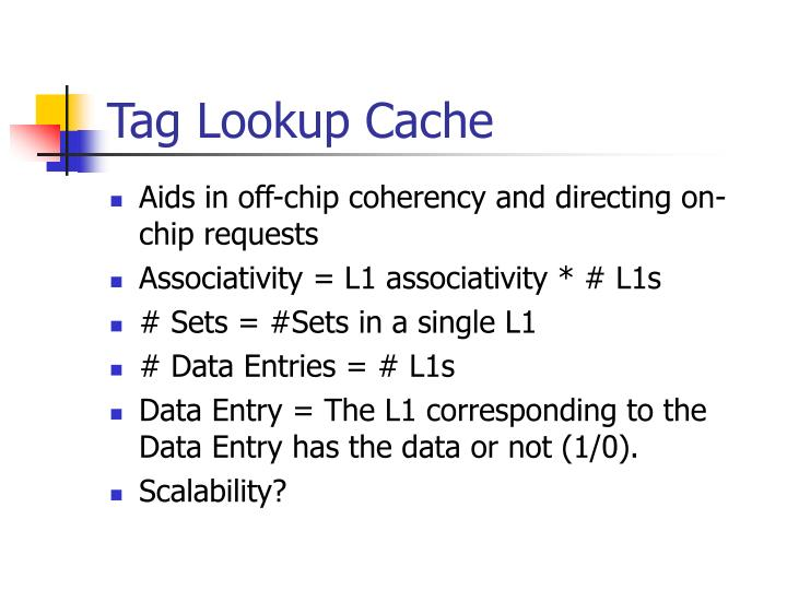Tag Lookup Cache